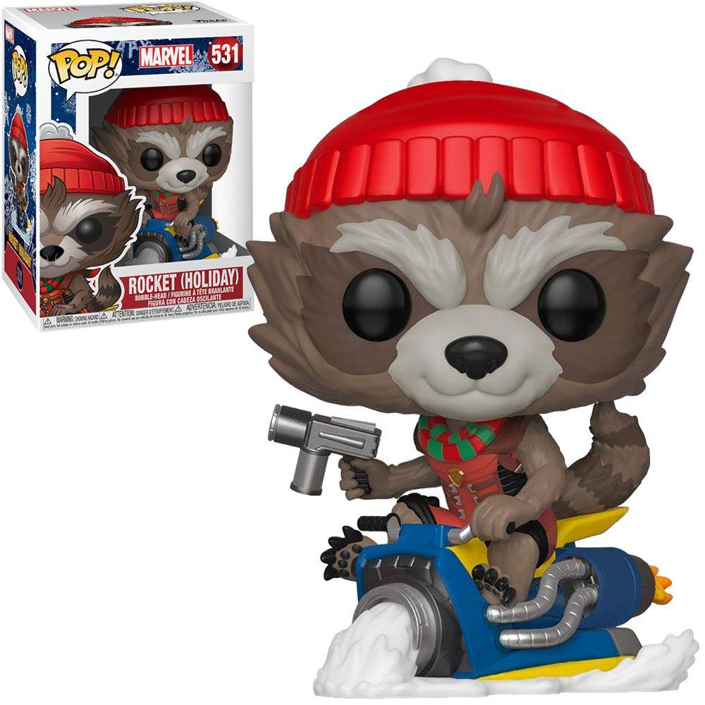 Funko Pop #531 - Rocket (Holiday) - Marvel  - Pop Funkos