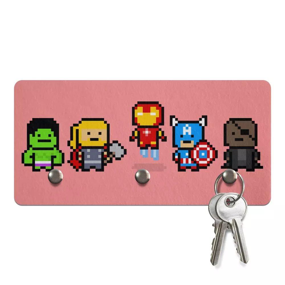 Porta Chaves Geek Pixelvengers  - Pop Funkos