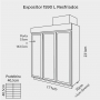 Expositor 1.590 Litros 3 Portas para Resfriados Até - 7 Graus