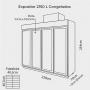 Expositor 2.150 Litros 4 Portas para Congelados Até - 18 Graus