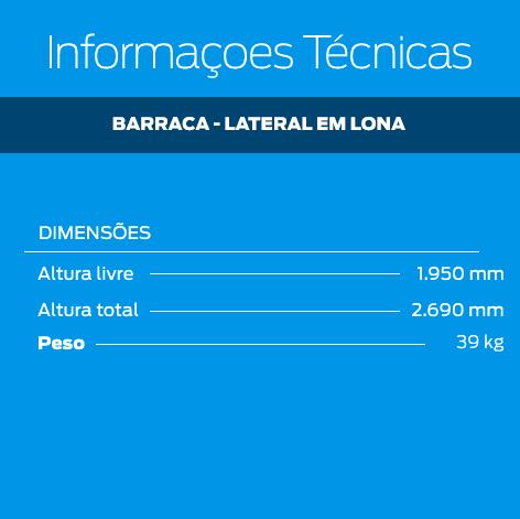 Barraca Com Lateral de Lona 2,5m x 2,5m   - Zero Grau Store