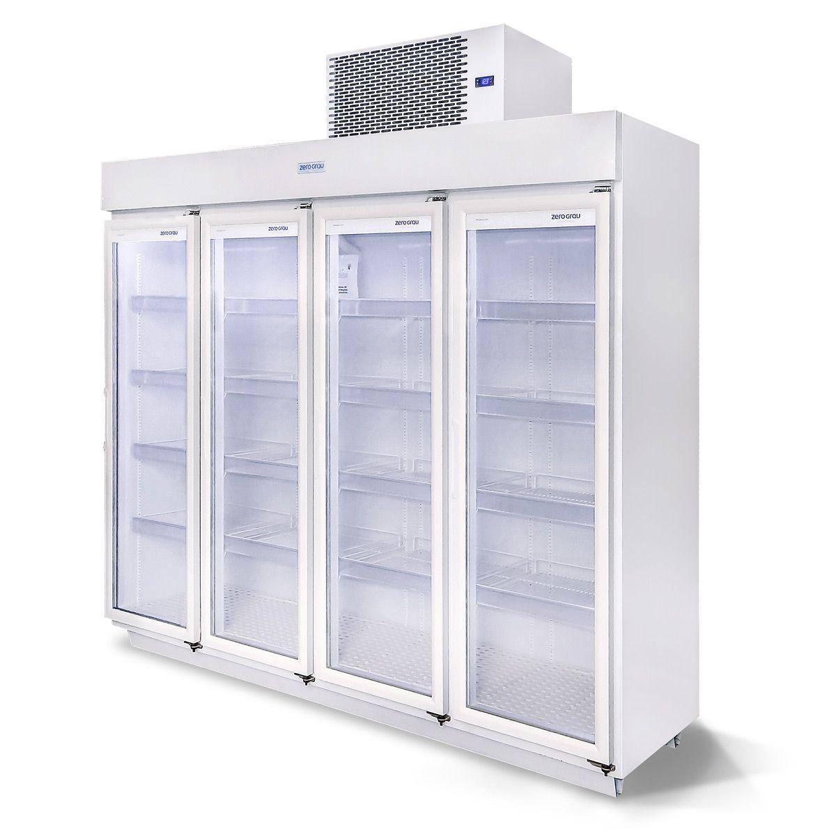 Expositor 2.150 Litros 4 Portas para Resfriados Até - 7 Graus