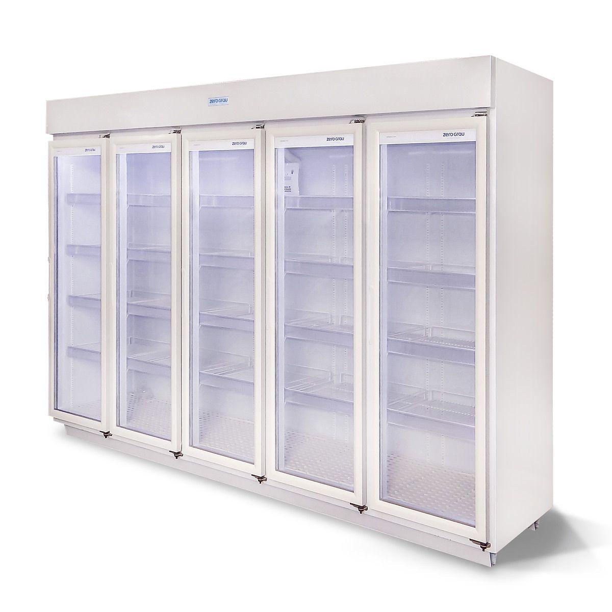 Expositor 2700 Litros 5 Portas para Resfriados Até -7 Graus  - Zero Grau Store