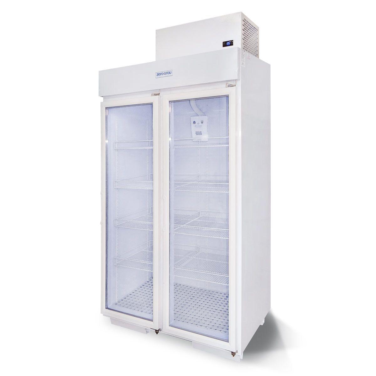 Expositor 1020 Litros 2 Portas para Congelados Até -18 Graus