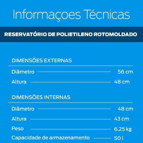 10 Reservatórios de polietileno para barril de chopp 50 litros  - Zero Grau Store
