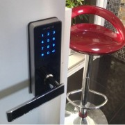 Fechadura Eletrônica G-Locks Ébano 600 Smart Plus - Preta - Esquerda