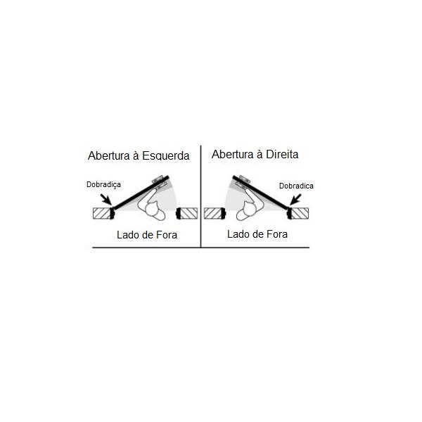 Fechadura Biométrica G-Locks Classic 61 - Prata - Direita