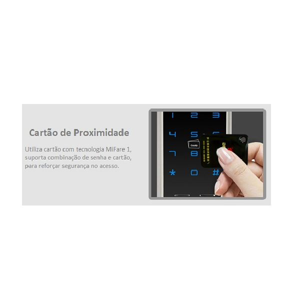 Fechadura Biométrica G-Locks Classic 63 - Champagne - Direita