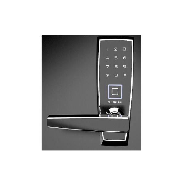 Fechadura Biométrica G-Locks Ébano 400 - Preta - Esquerda