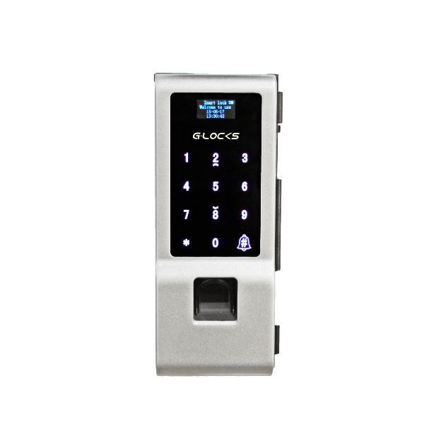 Fechadura Biométrica G-Locks Vitro 50 - Prata - Porta de Vidro Pivotante