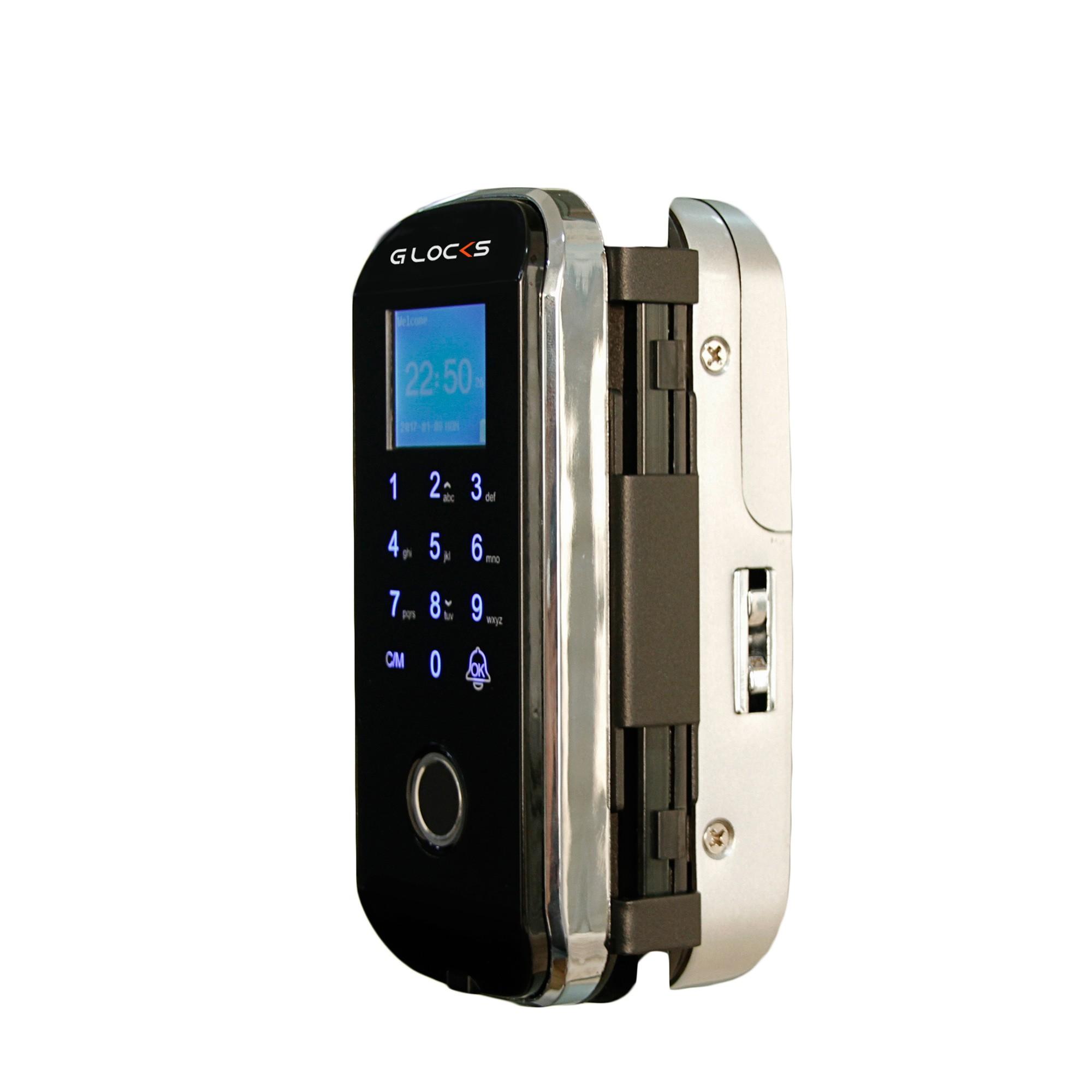 Fechadura Biométrica G-Locks Vitro 80 - Porta de Vidro de Correr