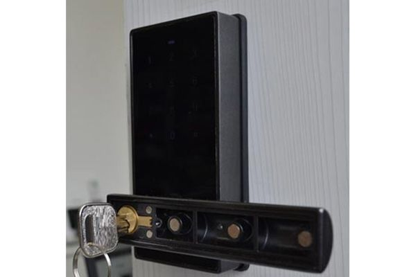 Fechadura Eletrônica G-Locks Ébano 150 - Grafite - Esquerda
