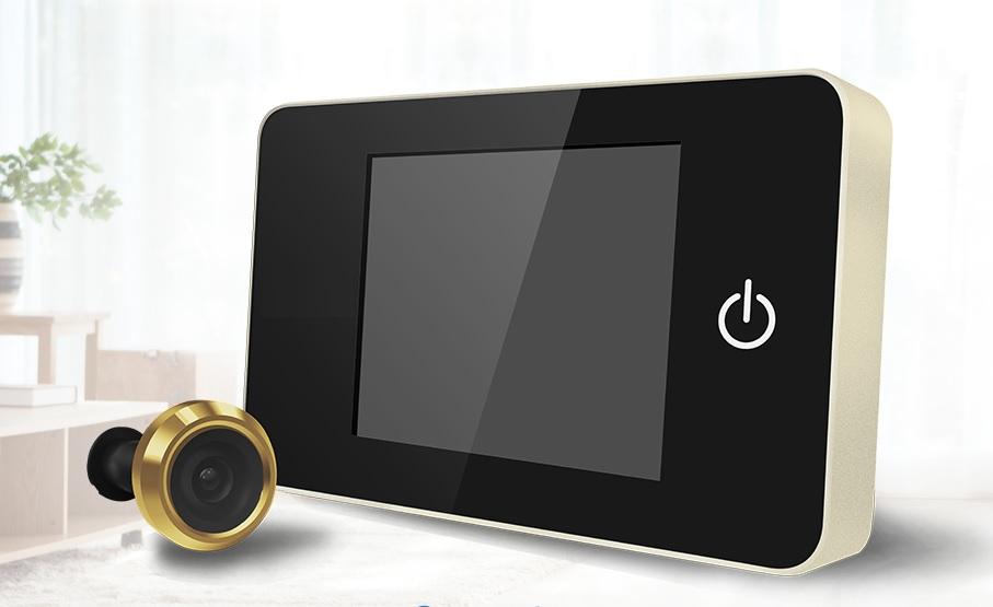 Olho Mágico Digital G-Locks OMG 100 - Preto