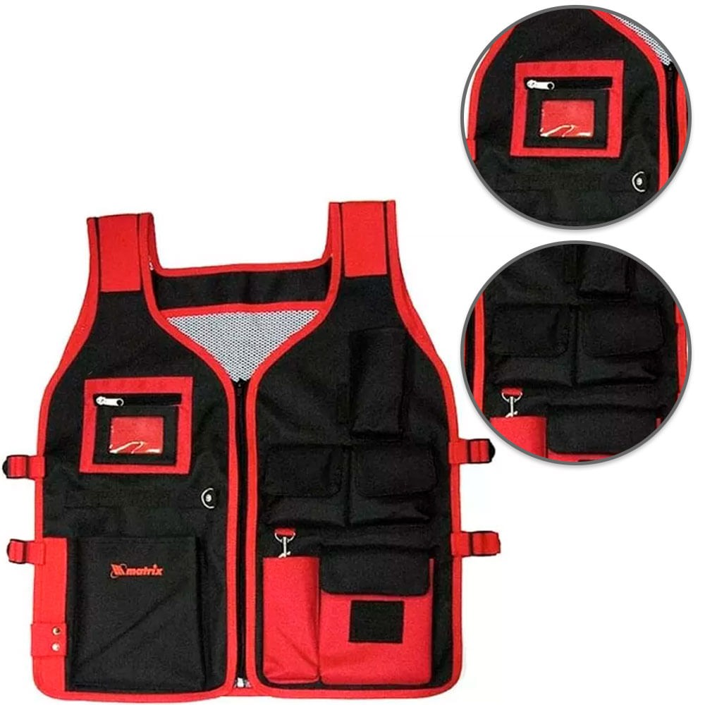 Colete Porta Ferramentas 8 Bolsos 510mm x 600mm MTX - 902469