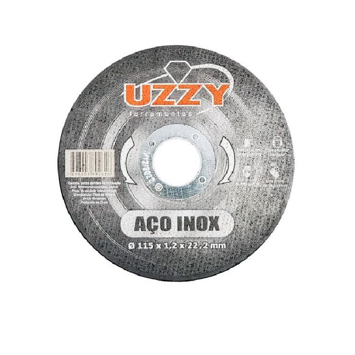 Disco Abrasivo para Corte de Ferro 115mm x 22mm UZZY F32GCZM8V