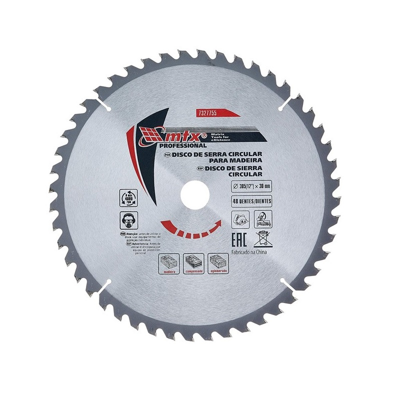 Disco Circular Widea 12 Pol. 305mm x 30mm 48 Dentes MTX 7327755