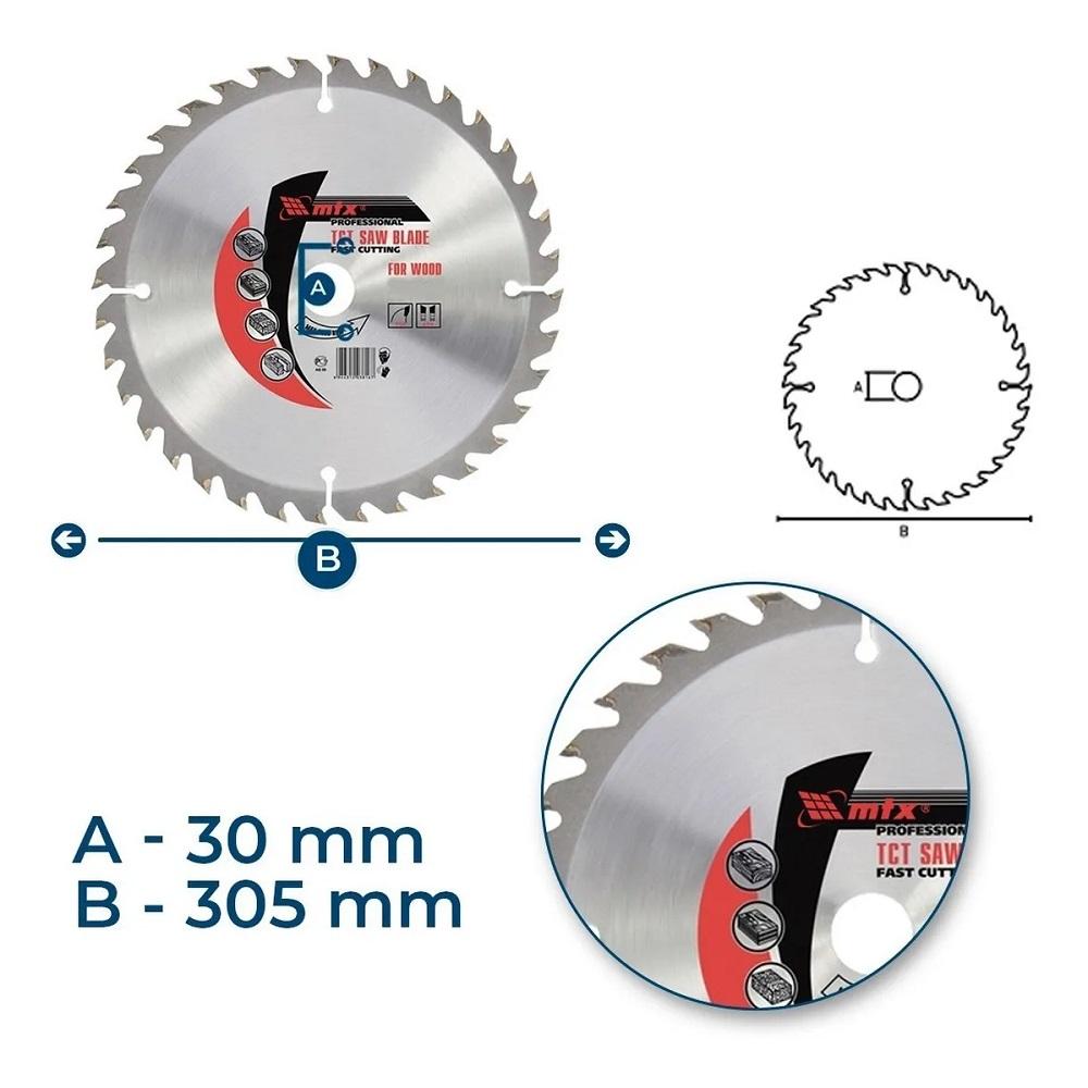 Disco Circular Widea 12 Pol. 305mm x 30mm 96 Dentes MTX 7328755