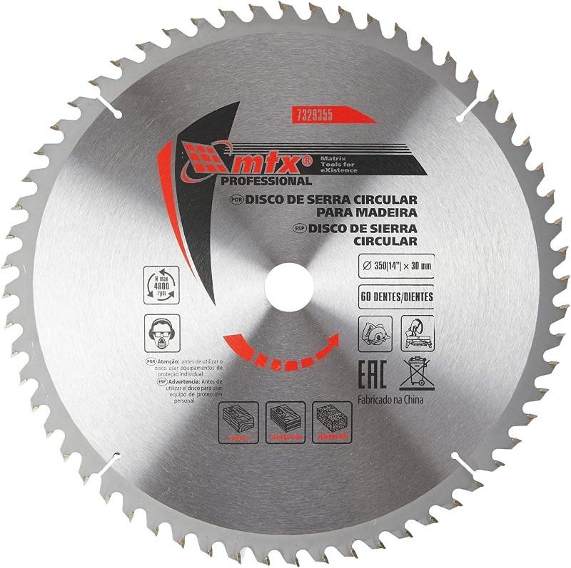 Disco Circular Widea 14 Pol. 350mm x 30mm 60 Dentes MTX 7329355