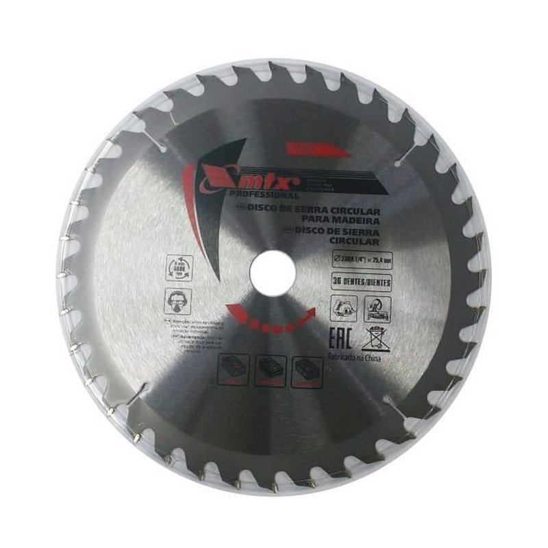 Disco Circular Widea 9.1/4 Pol. 230mm x 25mm 36 Dentes MTX 7326655