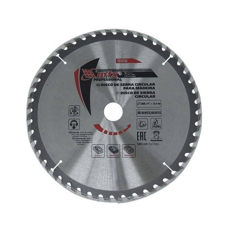 Disco Circular Widea 9.1/4 Pol. 230mm x 25mm 48 Dentes MTX 7326755