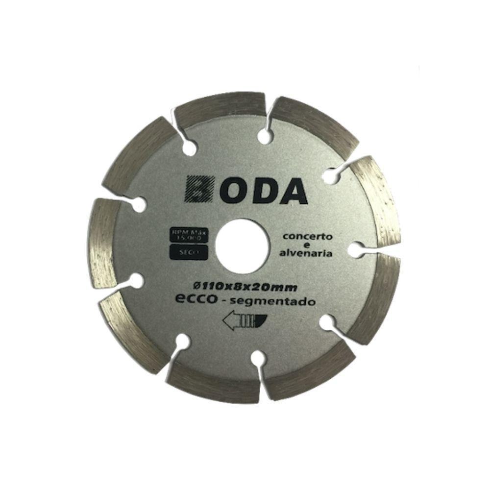 Disco de Corte Diamantado 4 Pol. 110mm x 20mm Liso BODA ECCO