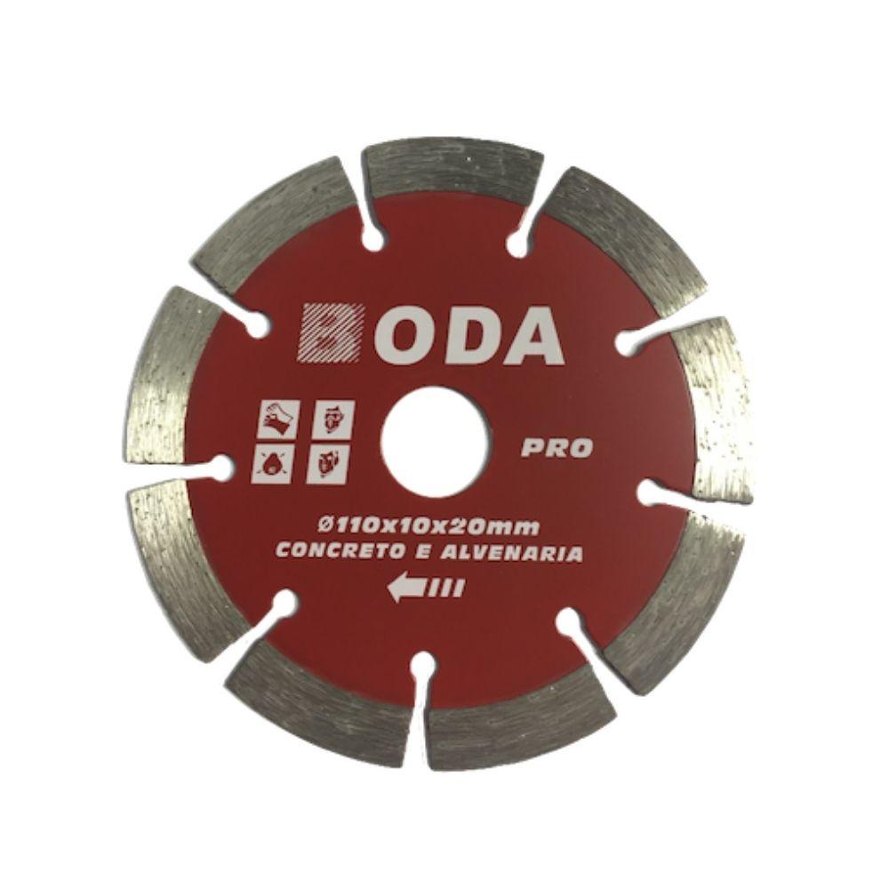 Disco de Corte Diamantado 4 Pol. 110mm x 20mm Segmentado BODA PRO