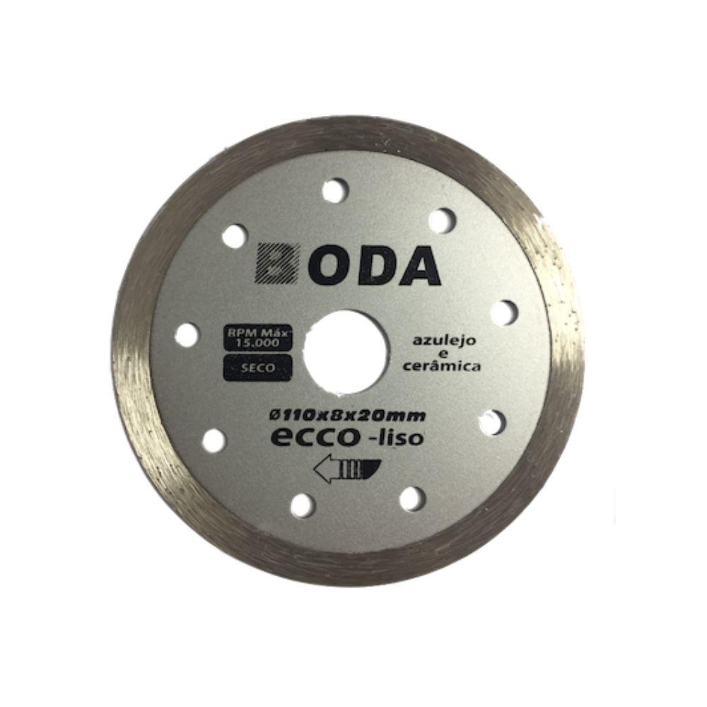 Disco de Corte Diamentado 4 Pol. 110mm x 20mm Liso BODA ECCO