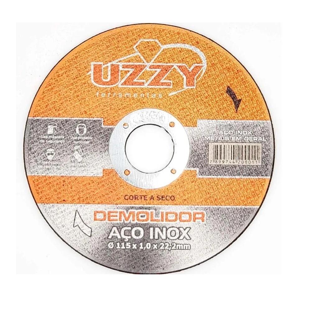 Disco de Corte Inox 115mm x 22mm 1pç UZZY DACO-INOX-115