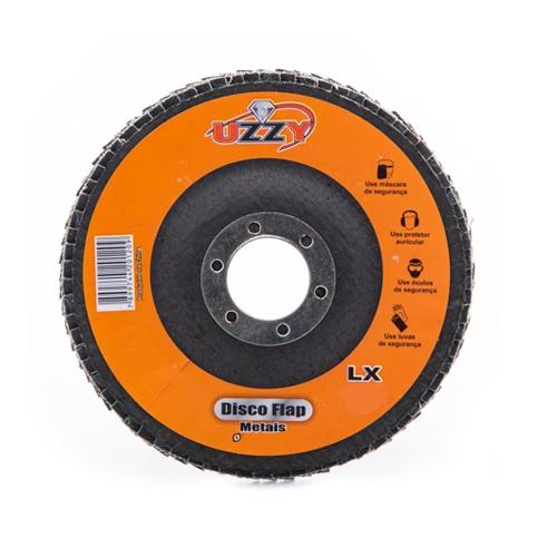 Disco de Lixa Flap 180mm x 22mm Grão 80 UZZY DCBWCRVZ3