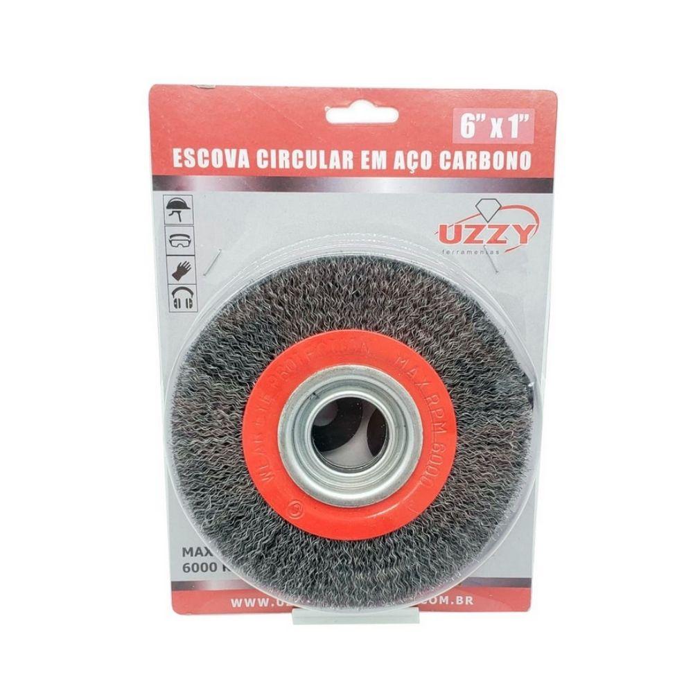 Escova Circular de Aço Carbono 150mm x 25mm UZZY 4ZV2RA9V3