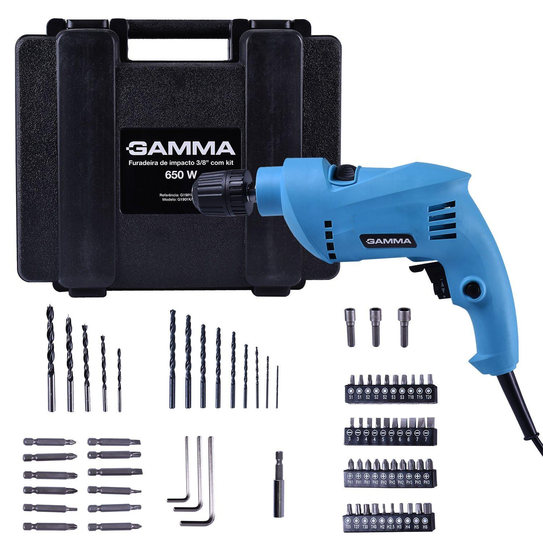 Furadeira de Impacto 650w 10mm com Kit GAMMA G1901K/BR2 220v