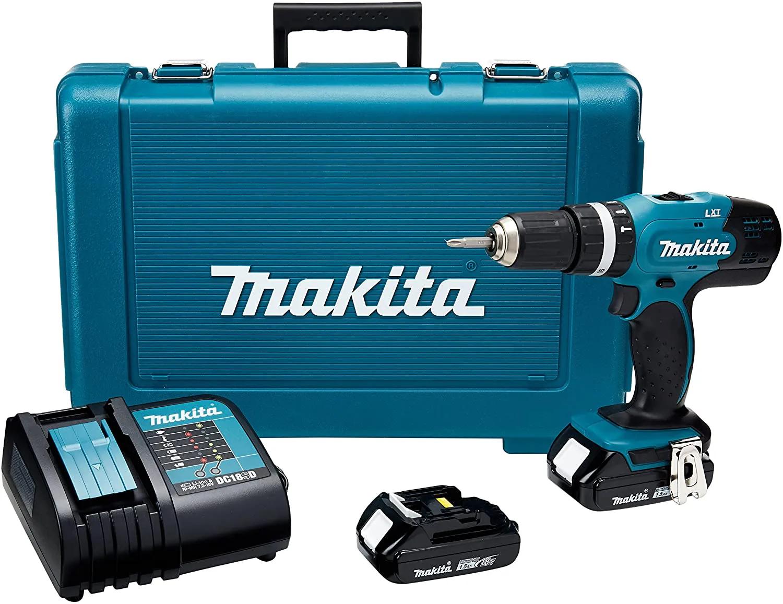 Furadeira Parafusadeira de Impacto à Bateria 18v com 2 Baterias, Carregador e Maleta BIVOLT MAKITA DHP453SYE