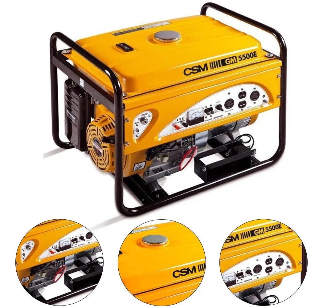 Gerador de Energia a Gasolina 4 Tempos 5,5kva Bivolt CSM GM-5500