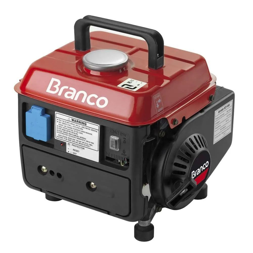 Gerador de Energia à Gasolina 0,95 Kva Corujinha BRANCO B2T950