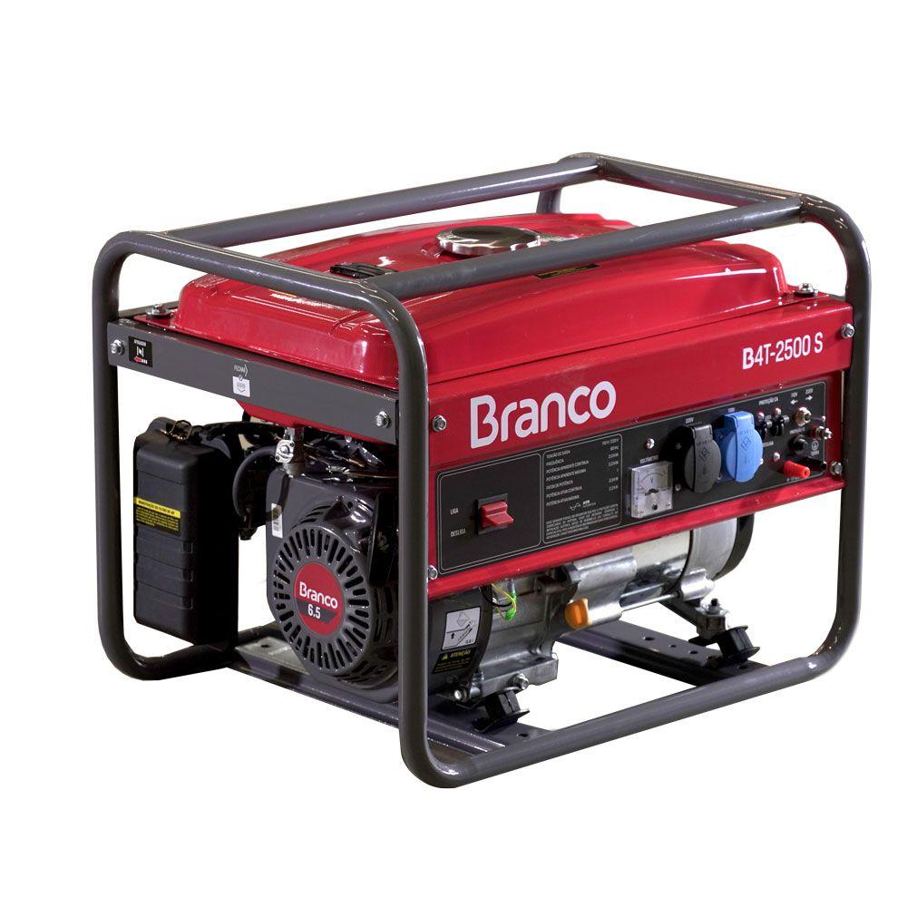 Gerador de Energia à Gasolina 2,3Kva BRANCO B4T2500S (220v/127v)