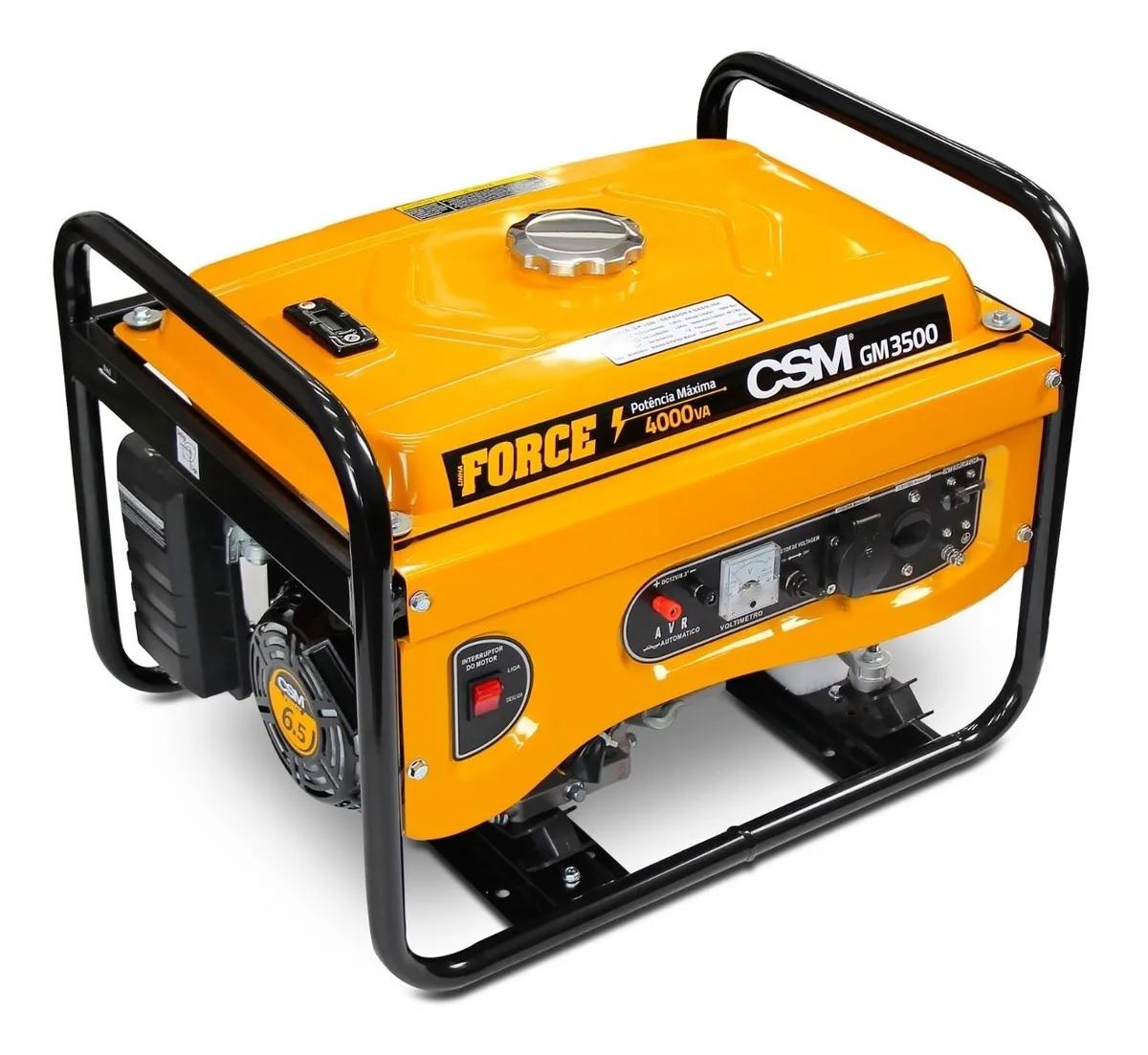 Gerador de Energia Gasolina 4 Tempos 4kva Bivolt CSM GM3500