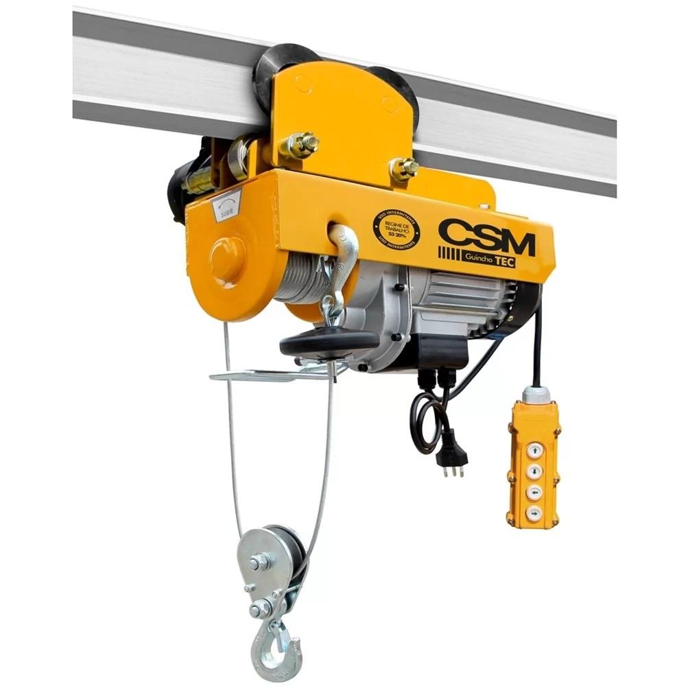 Guincho Elétrica 500 / 1000 Kg com Trole 220v CSM - TEC500