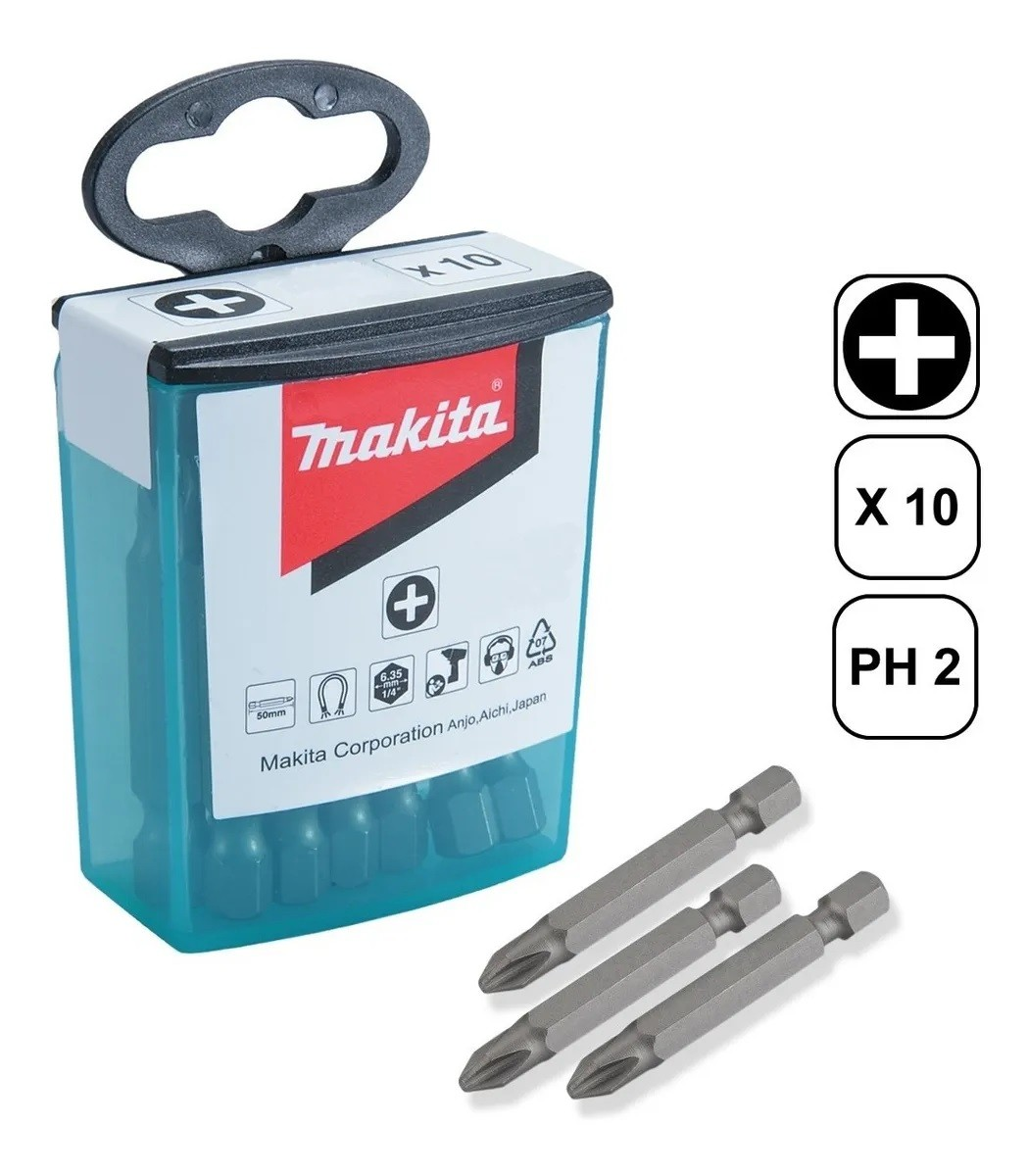 Jogo de Bits PH2 500mm Magnéticos com 10 Peças MAKITA B-26244