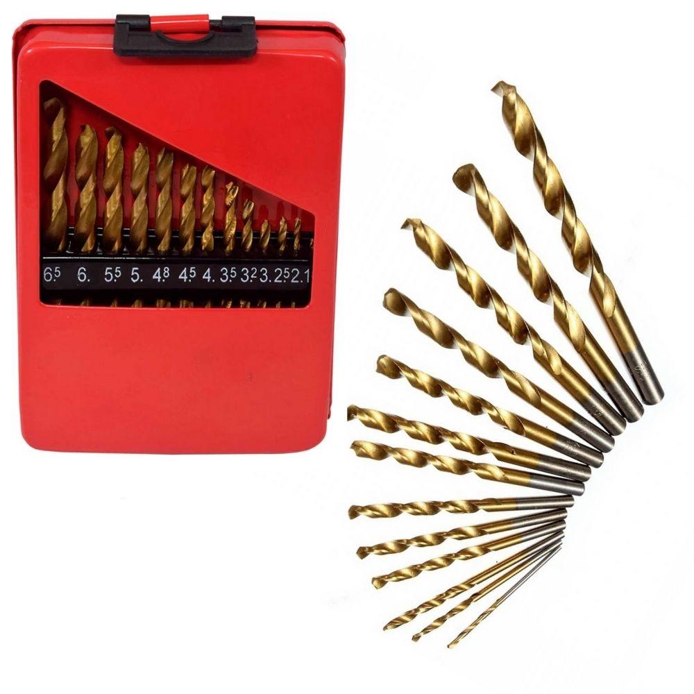 Jogo de Brocas para Metal Aço Rápido 13 pcs 1,5mm - 6,5mm MTX 723869