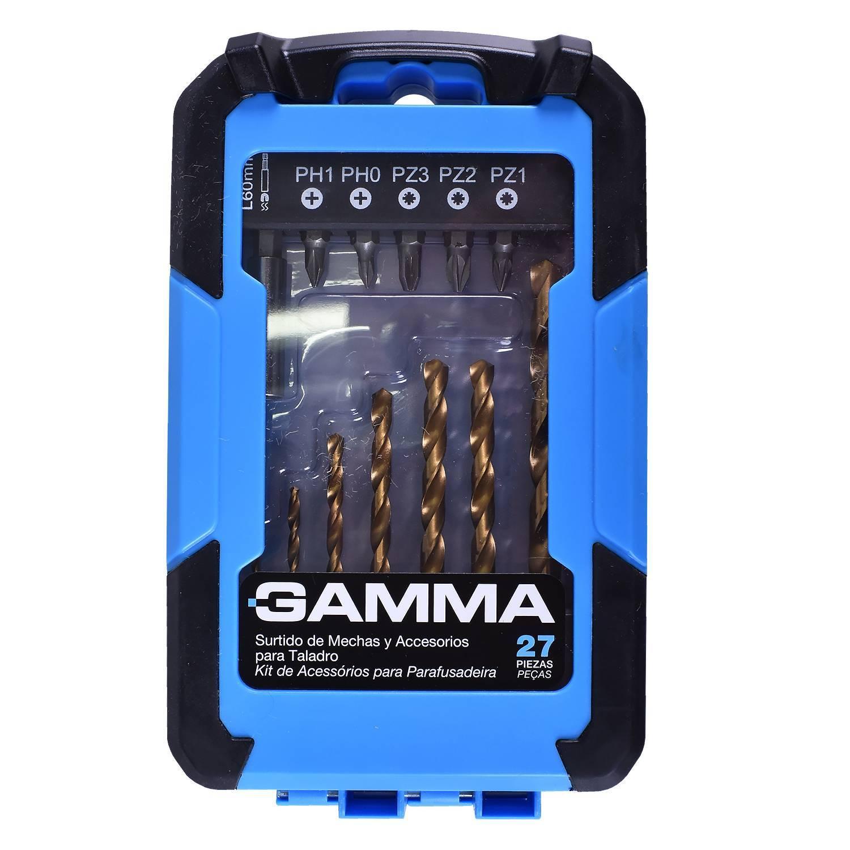 Kit de Acessórios para Furadeira e Parafusadeira 27 Peças GAMMA G19510AC