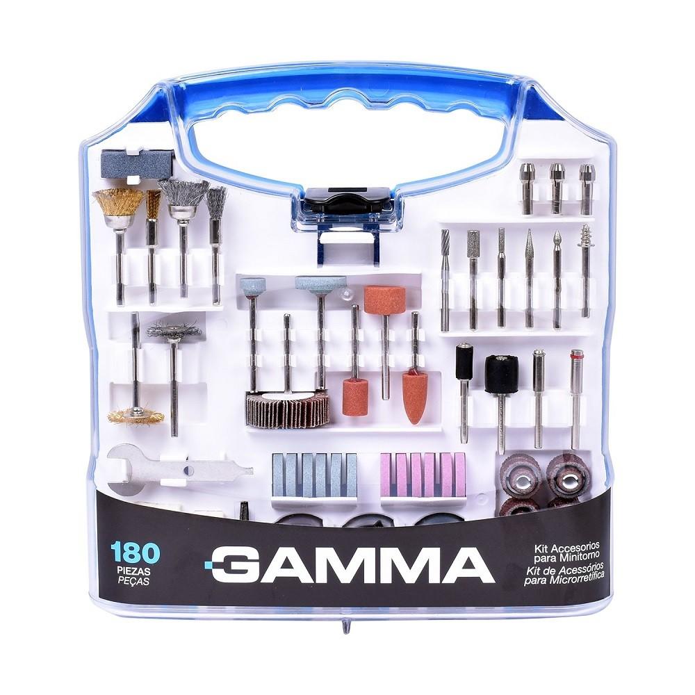 Kit de Acessórios para Microrretífica com 180 Peças GAMMA - G19507AC