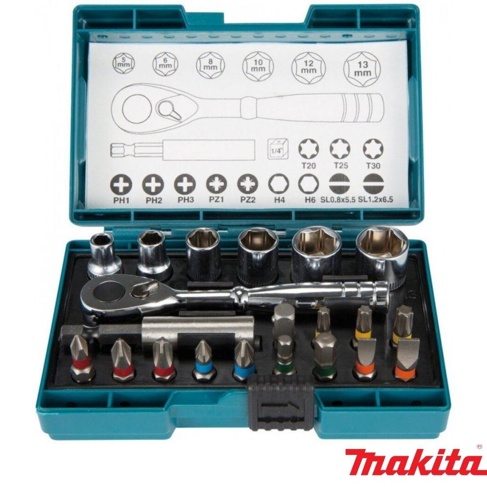 Kit de Bits e Soquetes 5mm - 13mm com Estojo MAKITA B-54081