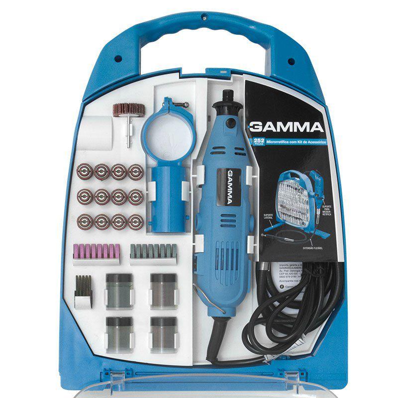 Microrretífica 130W com Kit de Acessórios 252 Peças GAMMA (220V)