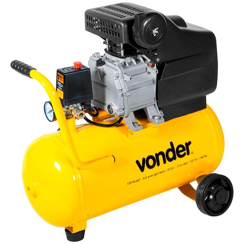 Motocompressor de Ar 2cv 21,6 Litros 6,5pcm 220v VONDER MCV-216