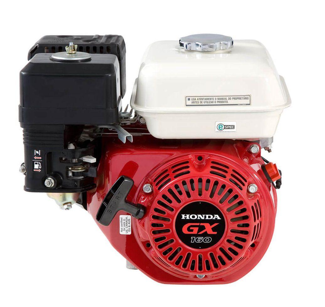 Motor a Gasolina 5,5Hp 4 Tempos 163cc S/ Alerta de Óleo HONDA GX160-QDBR