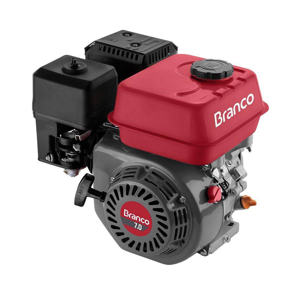 Motor à Gasolina 7cv 4 Tempos Estacionário BRANCO B4T7.0H (P.M - Sem Alerta de Óleo)