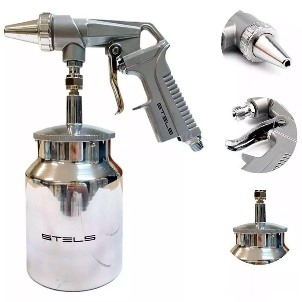 Pistola para Jateamento de Areia por Sucção 1/4 Pol. STELS - 5732655