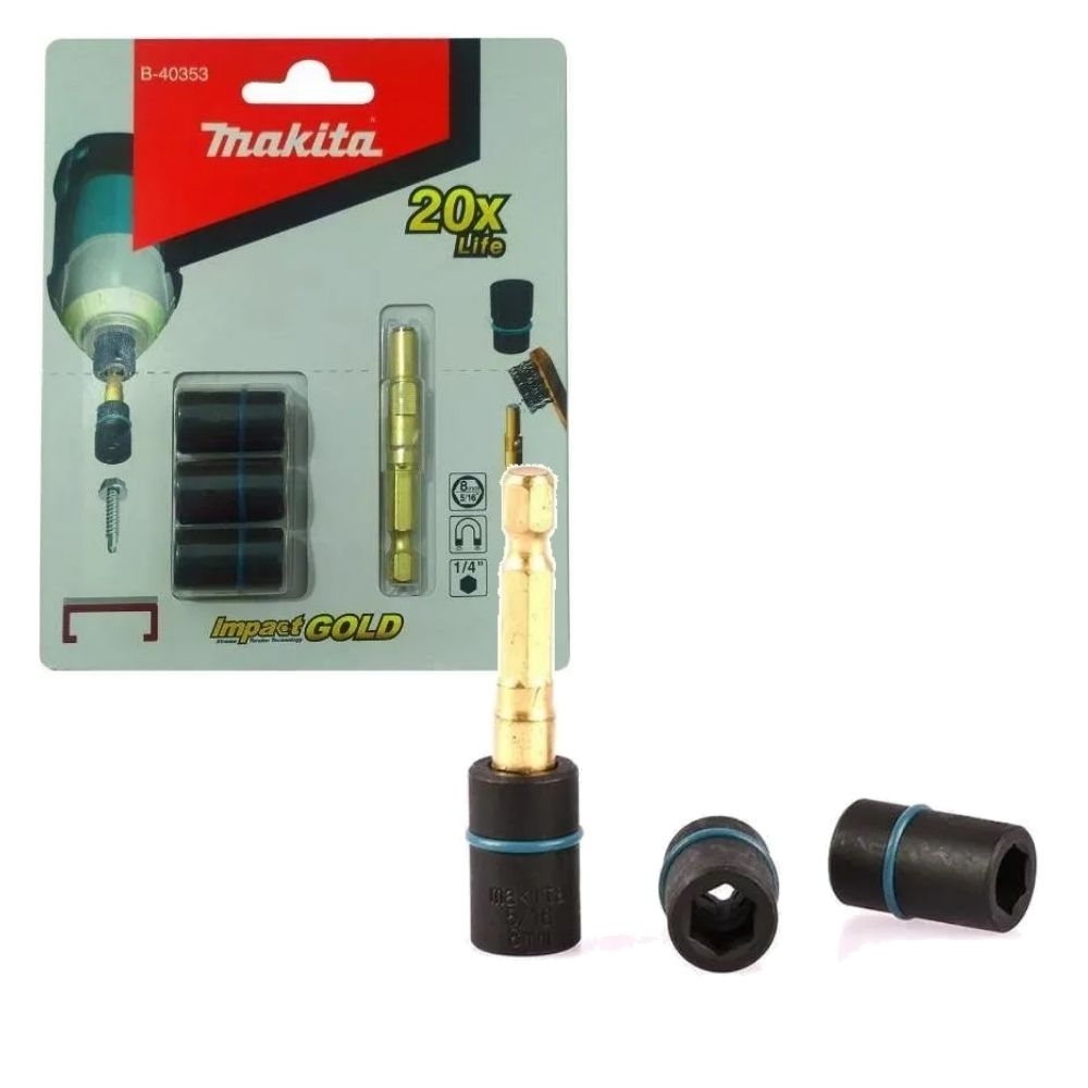 Soquetes Magnéticos 8mm 3 Unidades 20x Mais Vida Útil MAKITA B-40353