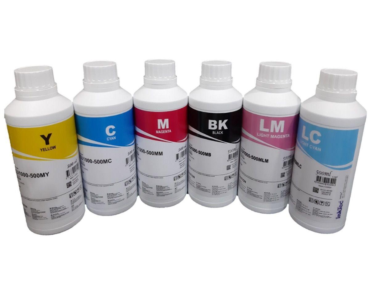 500 ML Tinta Corante Inktec para Impressoras Epson Unitário