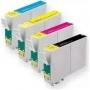 Kit Cartucho Compatível Epson T135 T133 Compatível para Impressora Epson T25/ TX123/ TX125/ TX133/ TX135.